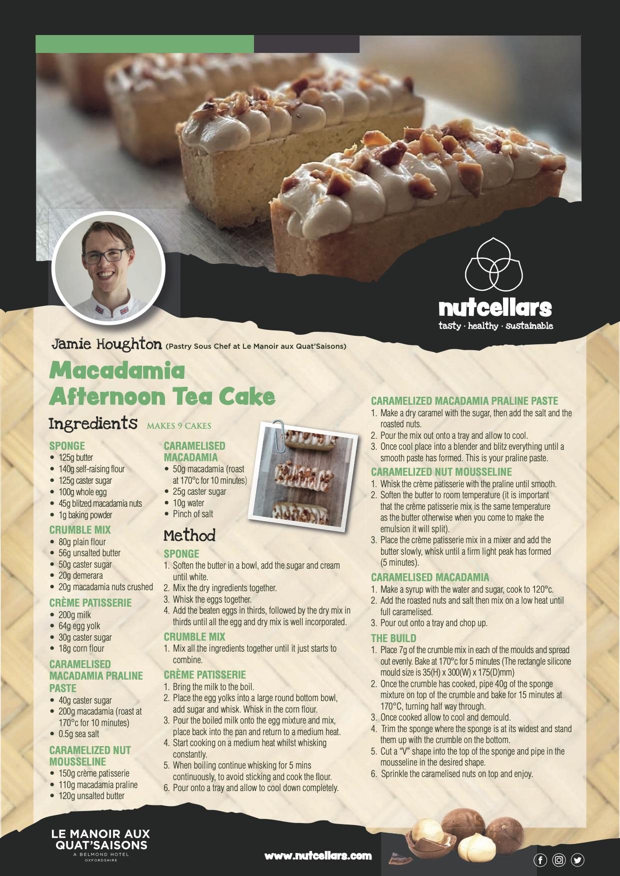 Jamie Houghton Macadamia tea cake